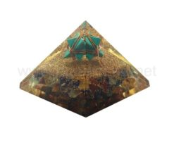 Wholesale Orgone Mix Chakra Energy Pyramid with Turqouise Merkaba Star for Sale