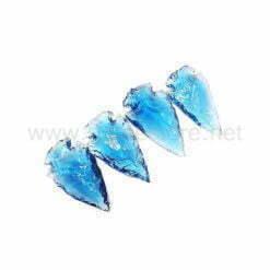 Wholesale Aqua Glass Onyx Arrowhead Point Spearhead for Sale