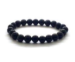 Wholesale Black Agate Bead Bracelet For Sale