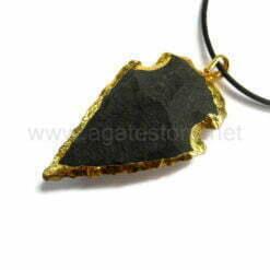 Wholesale Black Matt Arrowheads with Gold Bezel for Sale