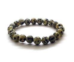 Wholesale Dalmatian Jasper Bead Bracelet For Sale