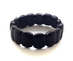 Wholesale Black Agate Banded Bracelet For Sale