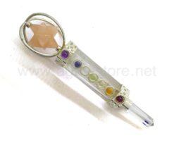 wholesale 7 Chakra Red Aventurine Merkaba Star Healing Stick for sale