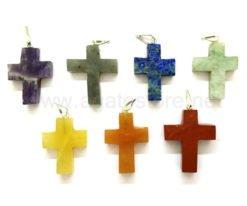 7 Chakra Religious Cross Pendant Set