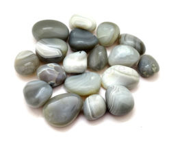 Grey Banded Agate Tumbled Stones