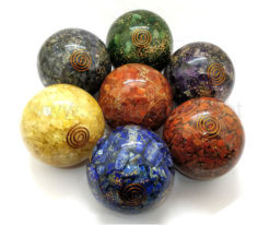 Wholesale 7 Chakra Orgone Spheres for Sale