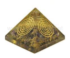 Wholesale Amethyst Reiki Engraved Cho-Ko-Rei Symbol Orgone Pyramid for Sale