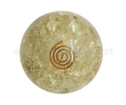 Wholesale Clear Crystal Quartz Orgone Spheres for Sale