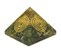 Wholesale Green Aventurine Reiki Engraved Cho-Ko-Rei Symbol Orgone Pyramid for Sale