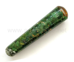 Wholesale Green Mica Orgone Smooth Massage Wands for Sale
