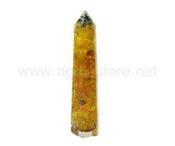 Wholesale Indian Citrine Orgonite Obelisk for Sale
