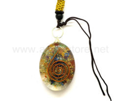 Wholesale Orgone 7 Chakra Oval Pendant for Sale