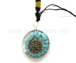 Wholesale Orgone Blue Turquoise Disc Pendants for Sale