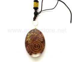Wholesale Orgone Garnet Oval Pendant for Sale