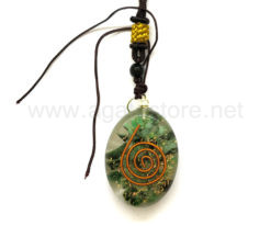 Wholesale Orgone Green Mica Oval Pendant for Sale