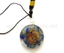 Wholesale Orgone Lapis Lazuli Disc Pendants for Sale