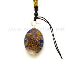 Wholesale Orgone Mix Chakra Oval Pendant for Sale