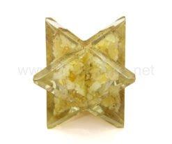 Wholesale Indian Citrine Orgone Merkaba Star for Sale